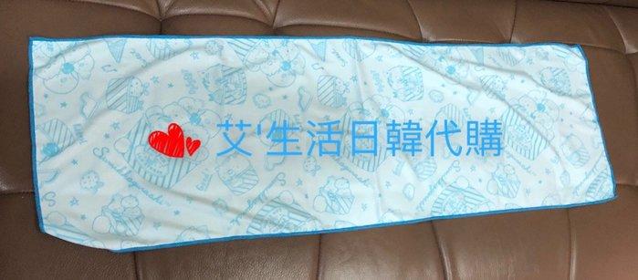 代購現貨  日本san-x角落生物涼感長毛巾 附收納瓶