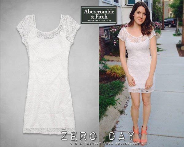 A&F Abercrombie&Fitch Alyssa Lace Bodycon Dress白蕾絲合身女神洋裝尾牙春酒