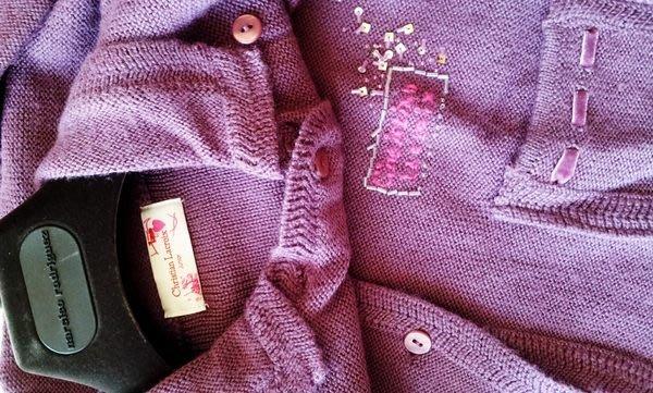 Christian Lacroix  紫紅色開襟外套