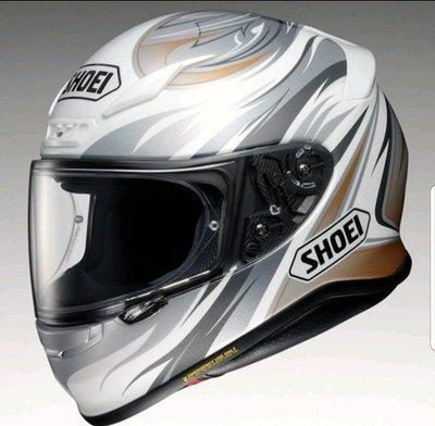 《鼎鴻》SHOEI全罩彩繪花色安全帽Z-7 INCISION TC-6 白銀