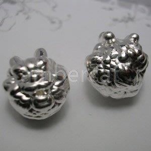 琥珀貓~【990純銀材料配件】造型珠~A0353款~龍頭~一個