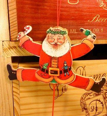 咪咪眼聖誕老公公拉繩木偶:聖誕節 老公公 拉繩木偶 吊飾 家飾 居家 設計 手工 禮品