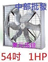 『中部批發』54吋 1HP 三相 東元馬達 通風機 箱型排風機 排風扇 強風扇 電風 大型通風扇 廠房散熱風扇 排風機
