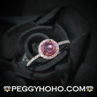 【Peggyhoho】全新18K金41份天然粉紅寶石配10份真鑽石戒指| 大睇之選 | pink sapphire HK12.5