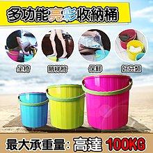 YAMAKAWA 多功能 亮彩 收納 置物桶 (三入1組)