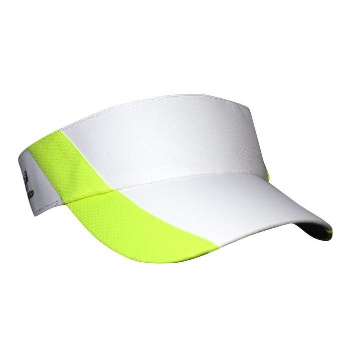 騎跑泳者 - HEADSWEATS 汗淂 (全球運動帽領導品牌) Ultralite Visor 中空遮陽帽 白/螢光綠