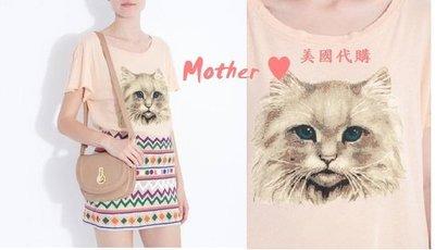 出清XS/S現貨 ♥ Mother ♥ 美國代購WILDFOX超可愛小貓咪短袖T恤/粉/春夏