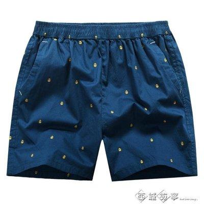 潮夏季男士純棉超短褲沙灘褲三分褲寬鬆睡褲居家休閒運動熱褲四分