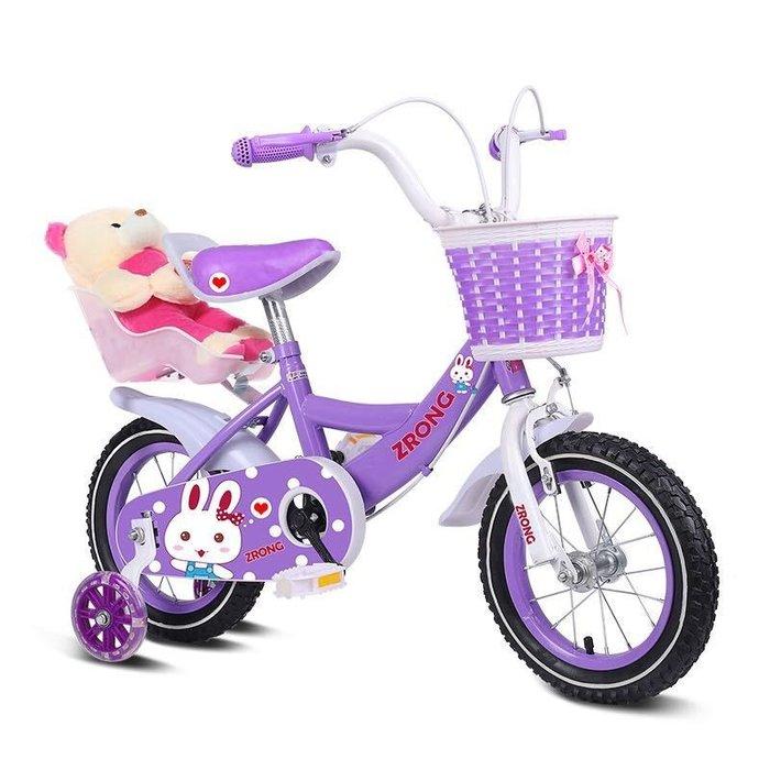 【阿LIN】800200 自行車 12吋 兒童腳踏車 萌萌兔 小白兔 單車 自行車 靜音輔助輪 腳踏車