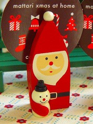 ArielWish日本DECOLE CONCOMBRE聖誕節交換禮物聖誕老公公抱雪人可站立名片夾子擺飾品拍照道具-絕版品