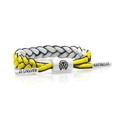 正品 RASTACLAT 美國加州品牌 鞋帶手環 Mini版 黃白雙面系列