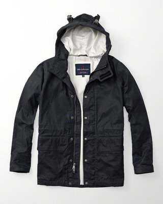 Abercrombie & Fitch A&F Wax Foul Jacket 上蠟層軍裝風衣外套夾克男 真品新品現貨