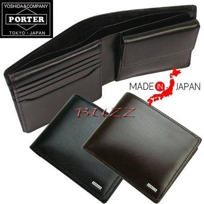 巴斯 日標PORTER屋-二色預購 PORTER SHEEN 牛革皮夾-短夾 110-02920