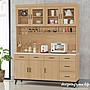 【設計私生活】艾莉森5.3尺黃橡木石面紋餐櫃...