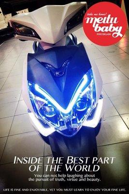 [色胚][桃園 新竹][光陽 KYMCO][雷霆s racing s][機車大燈]雙魚眼 導光燈眉