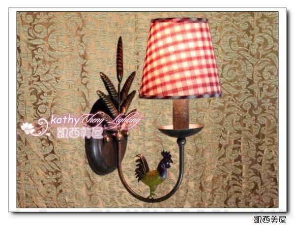 凱西美屋 法式鄉村壁燈 高盧公雞單頭壁燈 鄉村風