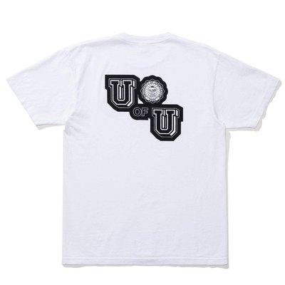【P+C】UNDEFEATED U OF U TEE 圖案 短T 男女 黑色 白色