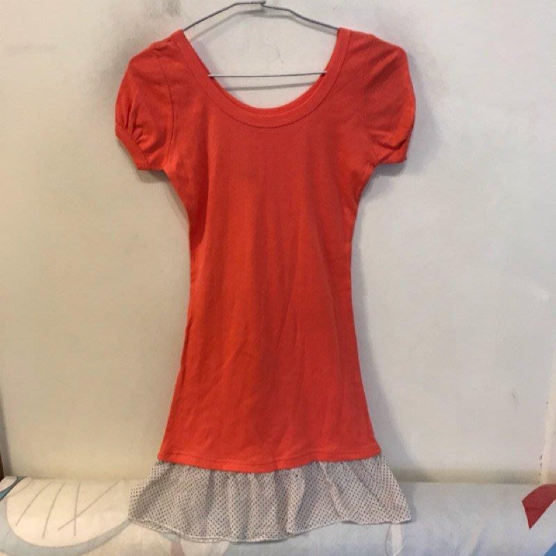 基本款修身印花短袖T恤長版上衣(F碼/222-5116)