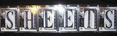 2006 SP Authentic By the Letter Ben Sheets Jersey Auto /250
