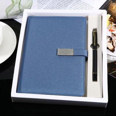 記事本A5商務辦公32K筆記本加厚小清新線裝日記本議記錄本辦公用本子禮盒