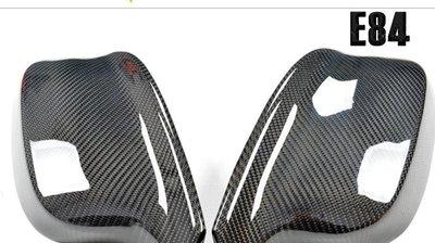 BMW   寶馬碳纖維後視鏡殼改裝 專用X1 E84 X3 F25倒車鏡罩車外碳纖鏡蓋