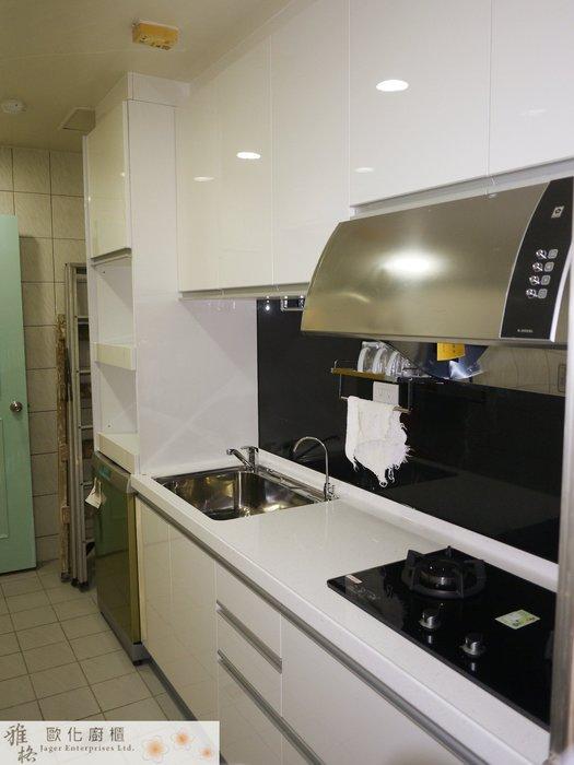 【雅格廚櫃】工廠直營~一字廚櫃、流理台、結晶鋼烤、櫻花玻璃爐、櫻花油煙機