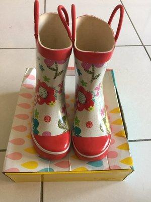 近全新日本品牌 Ma mere m'a dit 18cm兒童雨鞋