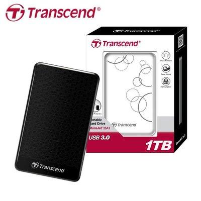 【原廠公司貨】創見 StoreJet 25A3 1TB USB3.0 2.5吋 行動硬碟 (TS-25A3-1TB)