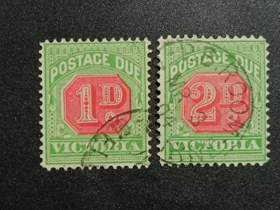 【 亂世奇蹟 】1895年澳大利亞(維多利亞省)欠資郵票__3000