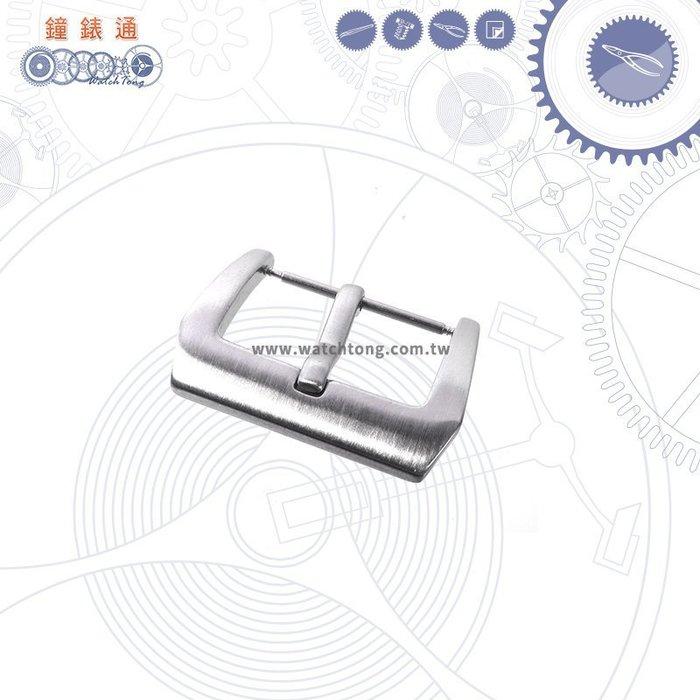 【鐘錶通】新品推薦 ~ ㄇ字扣_24 mm 銀色拉絲 / 皮錶帶手錶專用錶扣 / 單售