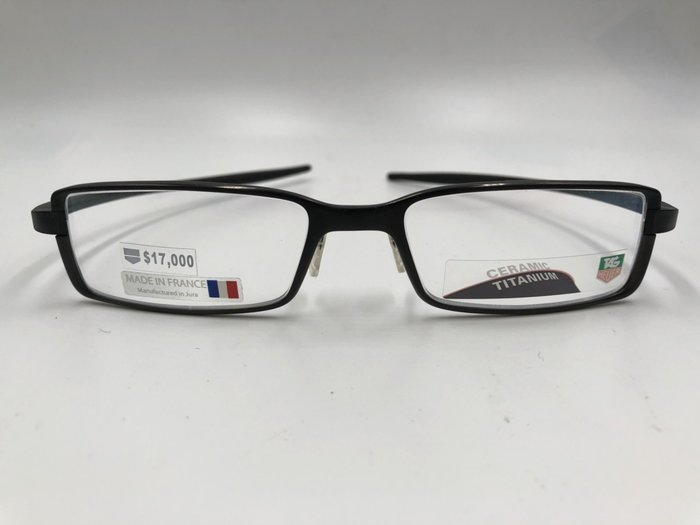 頂傑 TAG HEUER 黑框鈦製眼鏡 - TA  3703-001