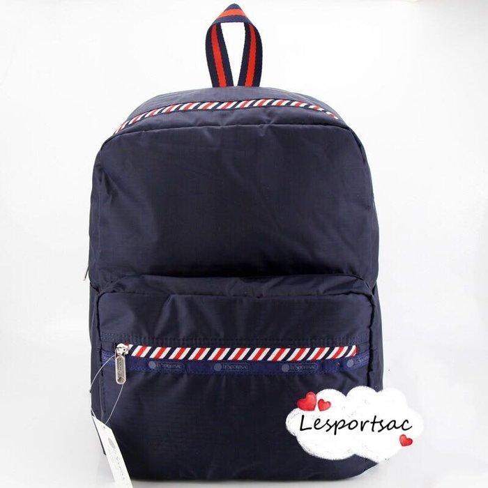 LeSportsac 8266 海軍深藍 旅行雙肩降落傘防水後背包 7990 限時優惠