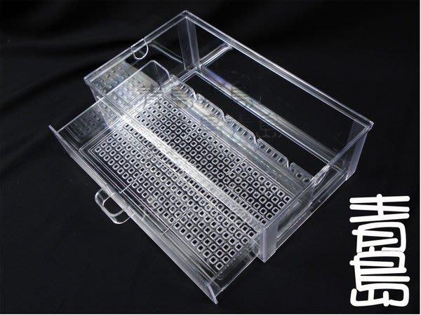AL。。。青島水族。。。新型抽屜式滴流盒(便當盒)==29.5*17*9.5cm*1個