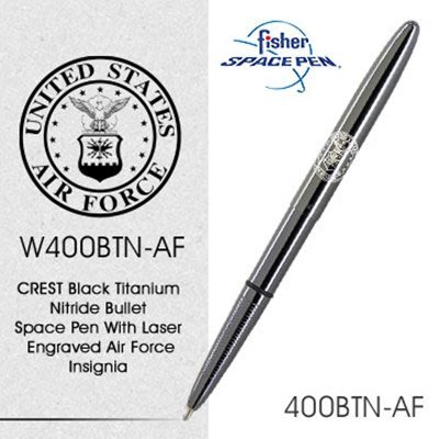 Fisher Space Pen Air Force空軍標誌400BTN-AF (銀殼) 【AH02174】JC雜貨