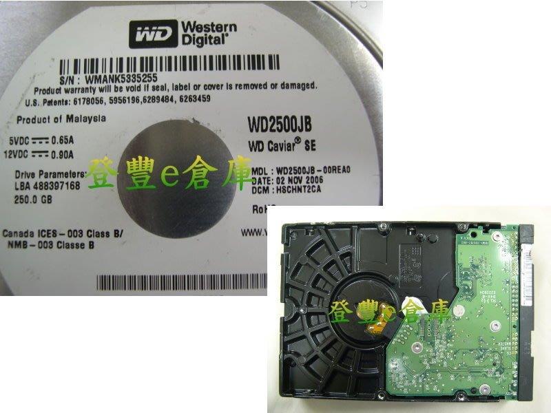 【登豐e倉庫】 F320 WD2500JB-00REA0 250G IDE 復原資料 停電損壞 有燒焦味