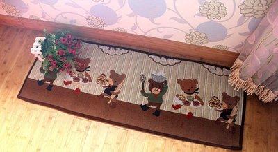 日單 120x45  廚房小熊 吸水防...