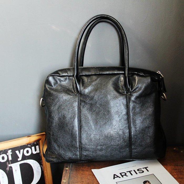 FINDSENSE 男包 G6 男用休閒包 2019新款耐用男包包手提包橫款商務電腦包簡約公事包軟皮