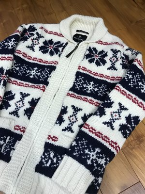 Nigel Cabourn Sweater Made in Scotland 蘇格蘭 毛衣 雪花 size:46