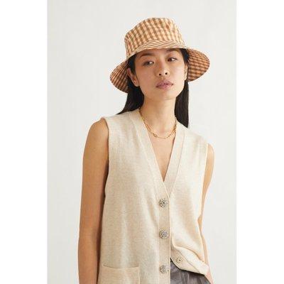 可可小屋 夏天必備 【新季】Loeffler Randall  春季女方格軟殼面料漁夫帽NAP