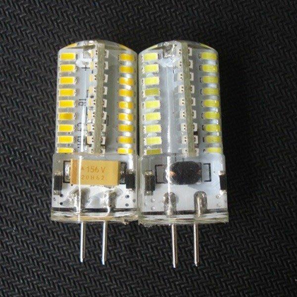 5Cgo【權宇】G4 72燈 3014 LED 10-30v 12V 24V 直流交流3.5W 防水 可選調光燈泡 含稅