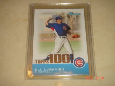 美國職棒 Rockies D.J. LeMahieu  2010 Bowman Topps 100 Prospects #TP72 RC 新人卡 球員卡