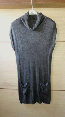 設計師品牌CHILLY 漂亮灰色長版衣(可當洋裝穿)9號