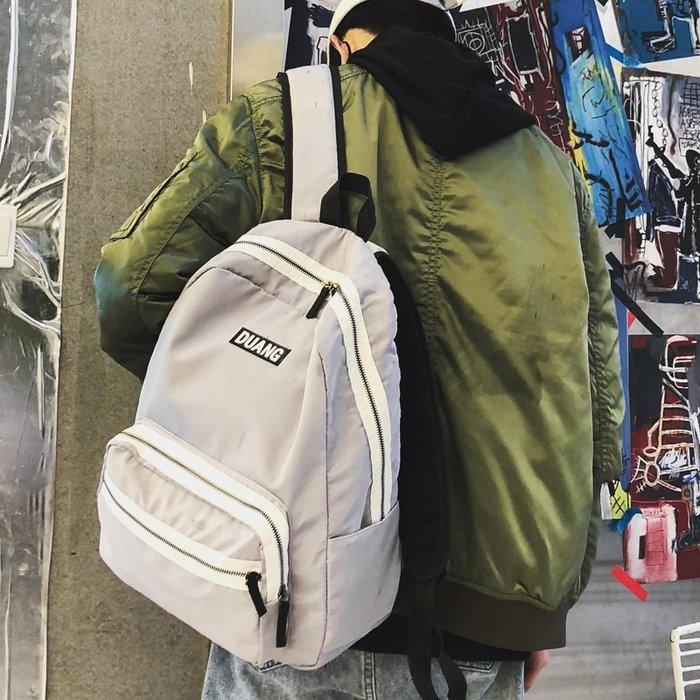爆款-書包女韓版原宿ulzzang高中學生簡約旅行雙肩包男帆布背包大容量-禧禧雜貨店