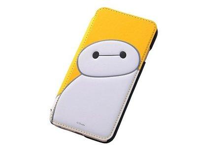 尼德斯Nydus~* 日本迪士尼 大英雄天團 杯麵 Baymax 翻頁皮套 手機殼 4.7吋 iPhone6 黃底款
