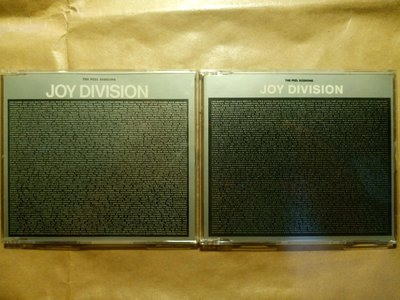 玩樂區 Joy Division 2張 John Peel Sessions 合售 1988 一直放在CD塑膠套