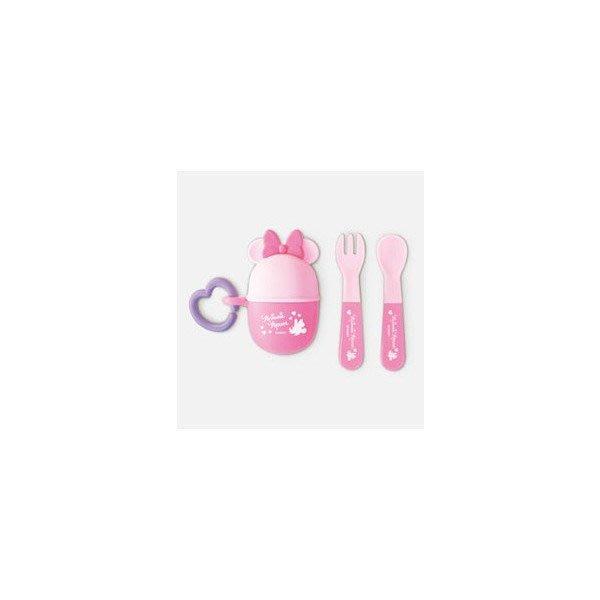 日本製 迪士尼 幼兒 外出攜帶餐具組 叉湯匙 / 2色