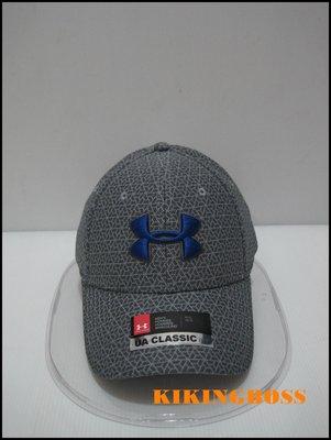 【喬治城】Under Armour UA  男款棒球帽 老帽 運動帽(灰藍)1305038-036