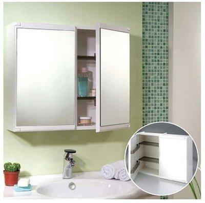 ﹢魔法廚房【衛浴精品】☆CT412塑膠雙門浴櫃/雙門鏡櫃~內部可收納~吊櫃