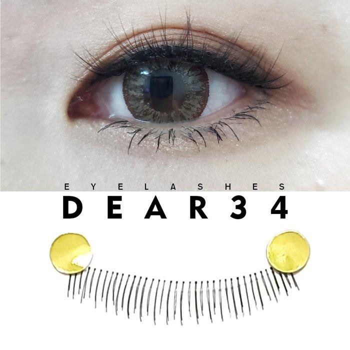 《Dear34》020根根分明透明梗下睫毛一盒十對價
