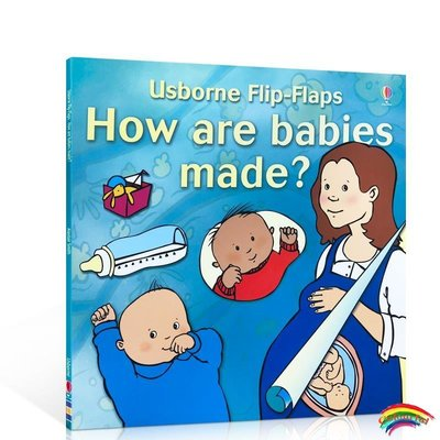 英文原版繪本 寶寶是怎么來的 Usborne Flip-Flaps How Are Babies Made? 新生命故事 性教育 Alistair Smith兒